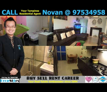 HDB Rental - 3A Blk 202 Tampines Street 21 3-Room Advance