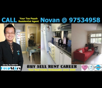 HDB Rental - 3I Blk 98 Lorong 1 Toa Payoh 3-Room Improved